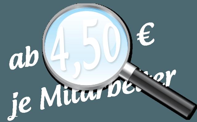 Lohnabrechnung auslagern bereits ab 4,50 € je Mitarbeiter